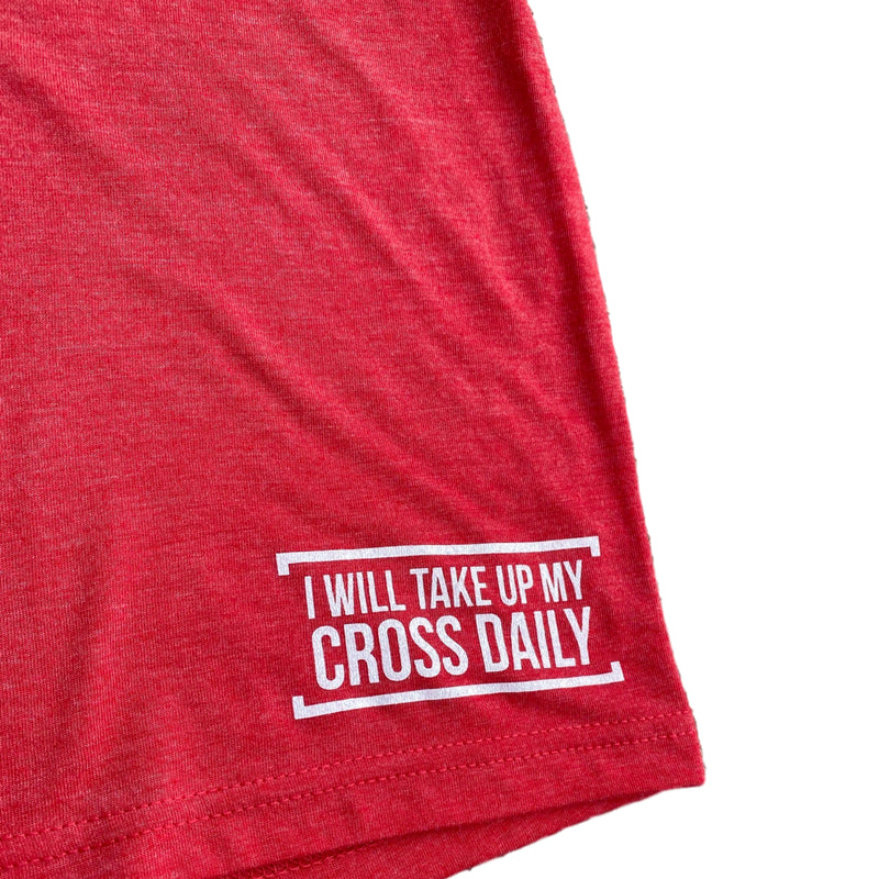 Fit for Christ Tee (Vintage Red)-Victory Apparel, Inc.