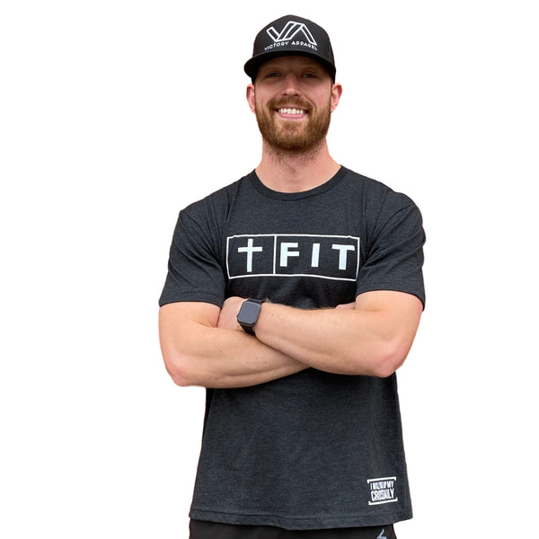 Fit for Christ Tee (Vintage Black)-Victory Apparel, Inc.
