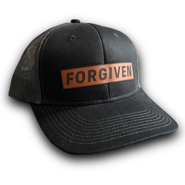 Forgiven Leather Patch Hat (Black/Charcoal)-Victory Apparel, Inc.