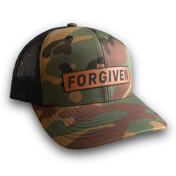 Forgiven Leather Patch Hat (Camo)-Victory Apparel, Inc.