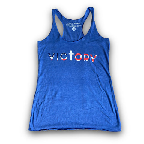 Freedom Women's Tank (Vintage Royal)