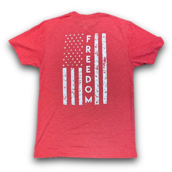 Freedom Tee (Vintage Red)-Victory Apparel, Inc.