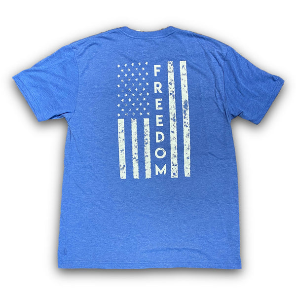 Freedom Tee (Vintage Royal)-Victory Apparel, Inc.