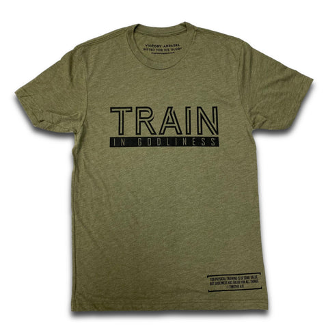 Train in Godliness Tee (Military Green)