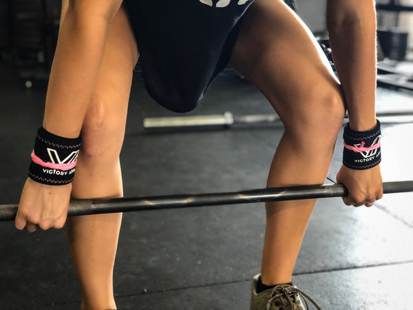 Victory Apparel Wrist Wraps (Black/Pink)-Victory Apparel, Inc.