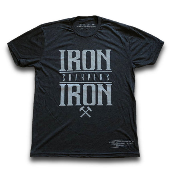 Iron Sharpens Iron Tee (Vintage Black)-Victory Apparel, Inc.