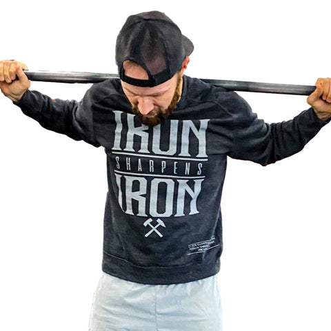 Iron Sharpens Iron Lightweight Crew (Charcoal Heather) | Victory Apparel, Inc.