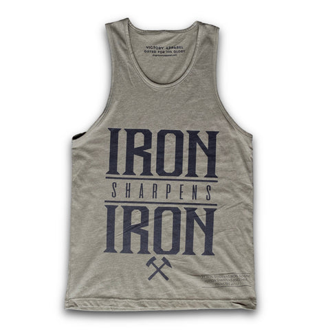 Iron Sharpens Iron Men's Tank (Military Green) | Victory Apparel, Inc.