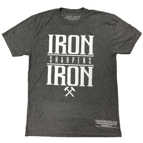 Iron Sharpens Iron Tee (Premium Heather Grey) | Victory Apparel, Inc.