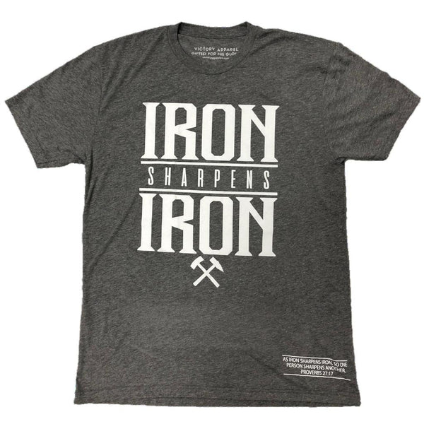 Iron Sharpens Iron Tee (Premium Heather Grey)
