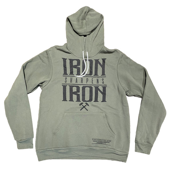 Iron Sharpens Iron Hoodie (Military Green)-Victory Apparel, Inc.
