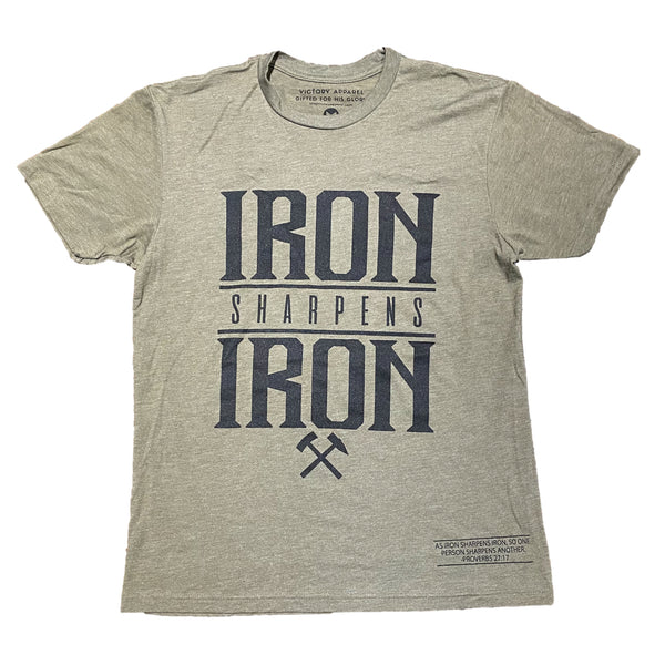 Iron Sharpens Iron Tee (Military Green)-Victory Apparel, Inc.