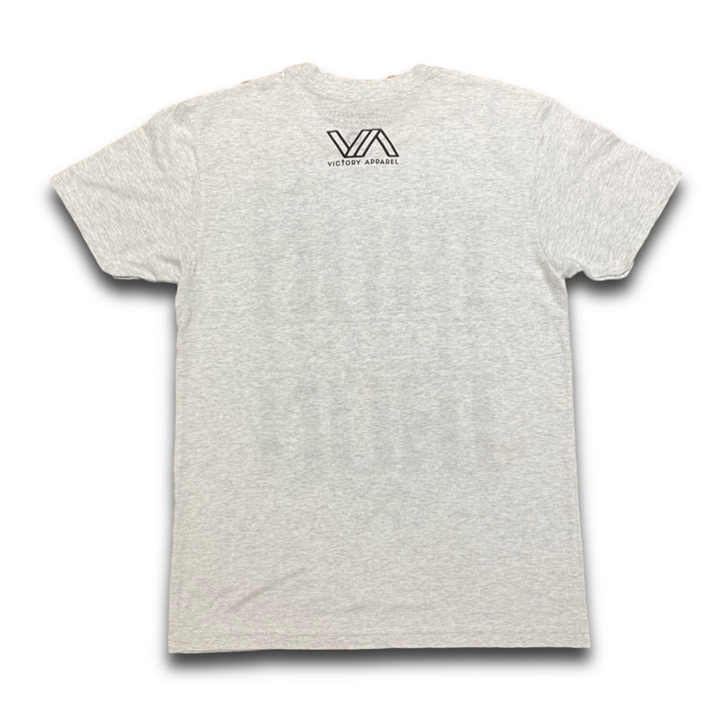 Iron Sharpens Iron Tee (Heather White)-Victory Apparel, Inc.