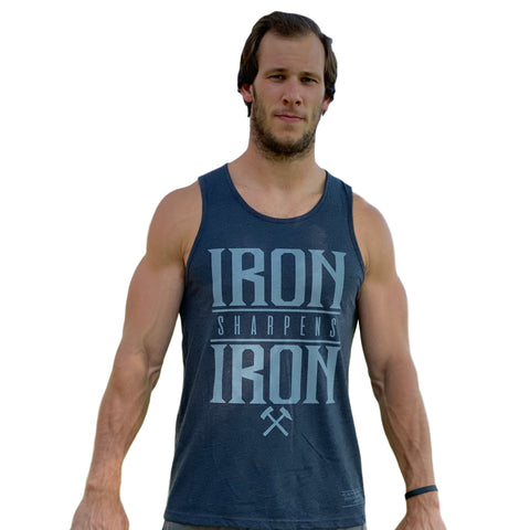 Iron Sharpens Iron Men's Tank (Charcoal)