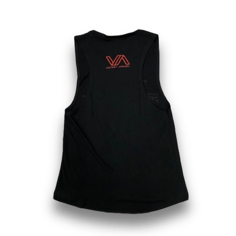 Jesus Things Women's Muscle Tank (Black)-Victory Apparel, Inc.