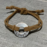 Stamped Washer Bracelets-Victory Apparel, Inc.