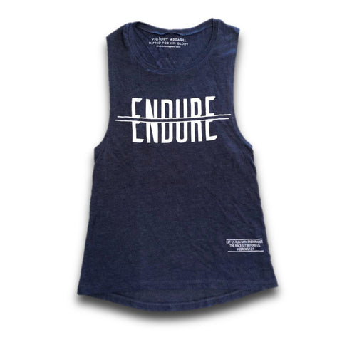 Endure Muscle Tank (Vintage Navy) | Victory Apparel, Inc.
