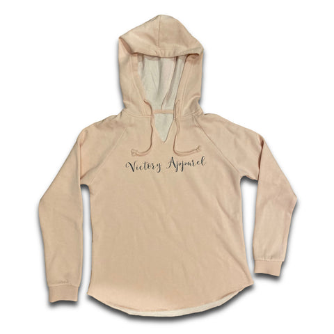 Victory Apparel Women's Hoodie (Blush) | Victory Apparel, Inc.