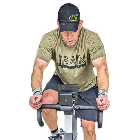 Train in Godliness Tee (Military Green)-Victory Apparel, Inc.