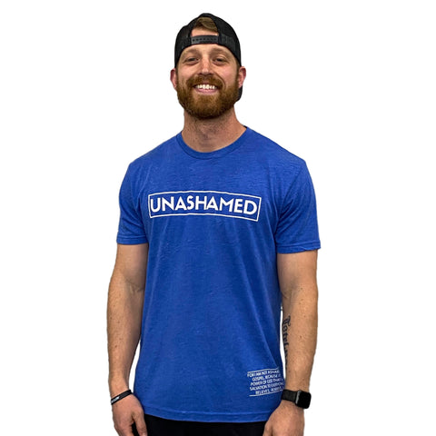 Unashamed Tee (Vintage Royal) | Victory Apparel, Inc.