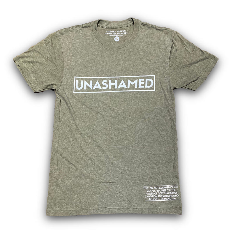 Unashamed Tee (Military Green)-Victory Apparel, Inc.