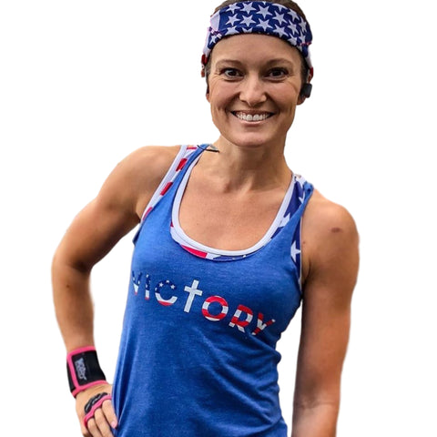 Victory Women's Tank (Vintage Royal)-Victory Apparel, Inc.