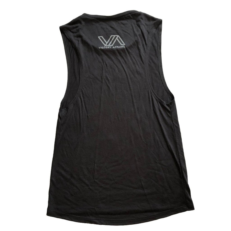 Iron Sharpens Iron Women's Muscle Tank (Black)-Victory Apparel, Inc.