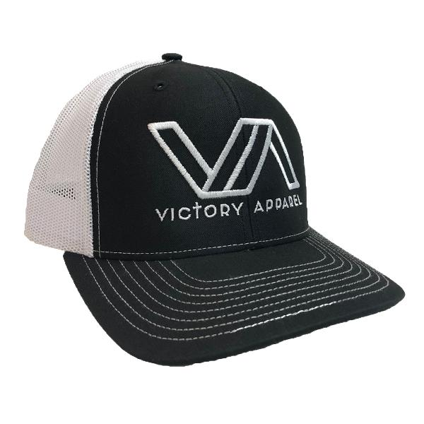 Victory Apparel Trucker Hat (Black and White)