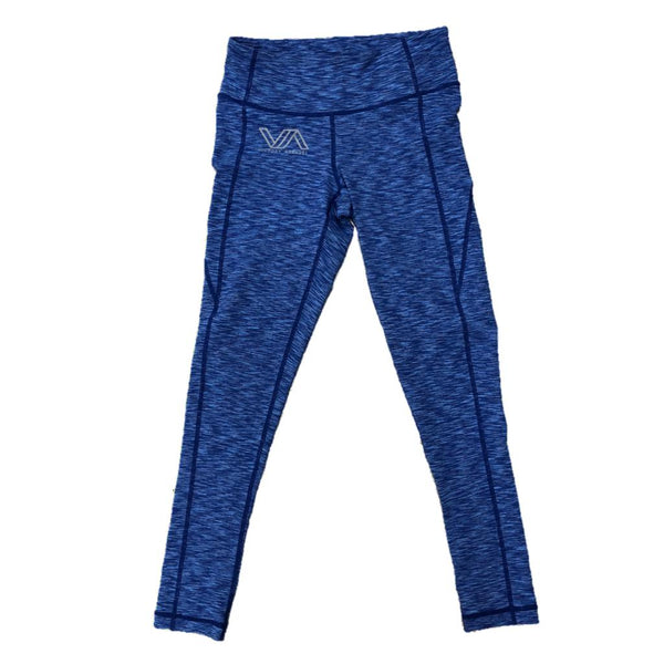 Full Length Performance Leggings (Heather Blue)-Victory Apparel, Inc.