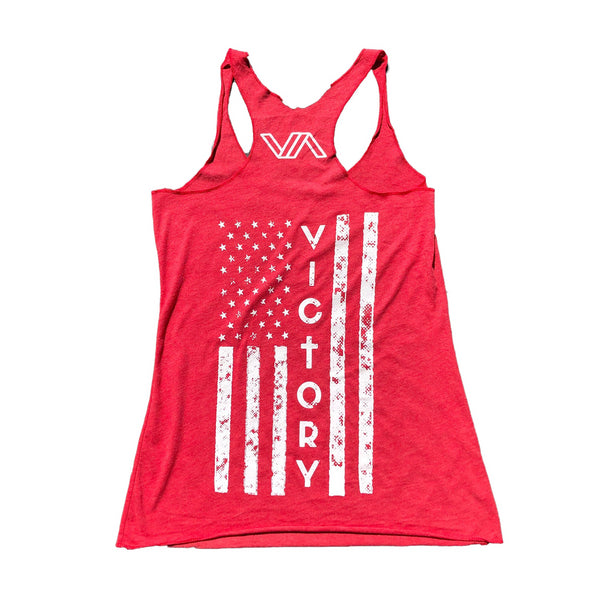 Brave Women's Tank (Vintage Red)-Victory Apparel, Inc.