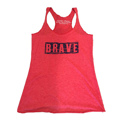 Brave Women's Tank (Vintage Red)