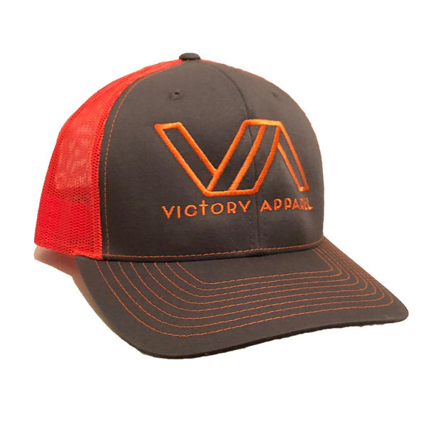Victory Apparel Trucker Hat (Charcoal/Orange)