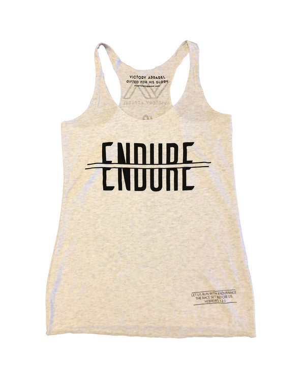Endure Tank (Heather White)-Victory Apparel, Inc.