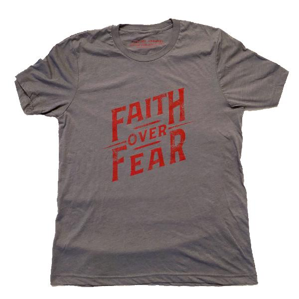 Faith over Fear Tee (Storm Grey)