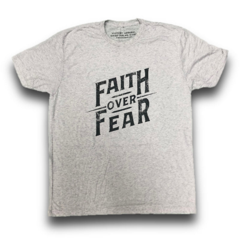 Faith over Fear Tee (Heather White)-Victory Apparel, Inc.
