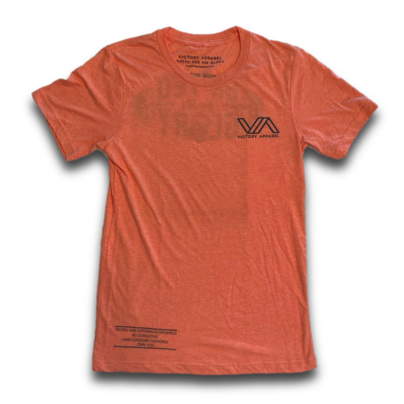 Gifted for His Glory Tee (Orange)-Victory Apparel, Inc.