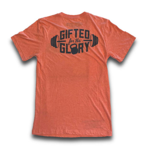 Gifted for His Glory Tee (Orange) | Victory Apparel, Inc.