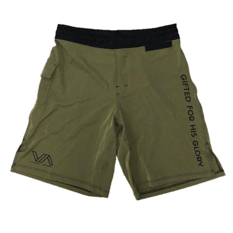 Victory Apparel Training Shorts (Military Green) | Victory Apparel, Inc.