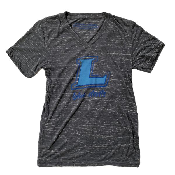 Lebanon Blue Devils V-Neck Tee (Charcoal Marble)-Victory Apparel, Inc.