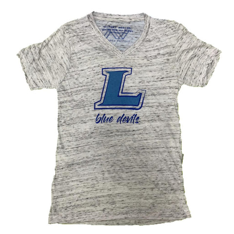 Lebanon Blue Devils V-Neck Tee (White Marble) | Victory Apparel, Inc.