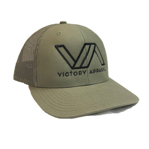 Victory Apparel Trucker Hat (Loden) | Victory Apparel, Inc.