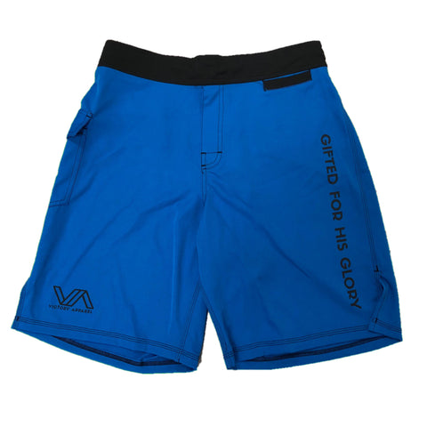 Victory Apparel Training Shorts (Blue) | Victory Apparel, Inc.