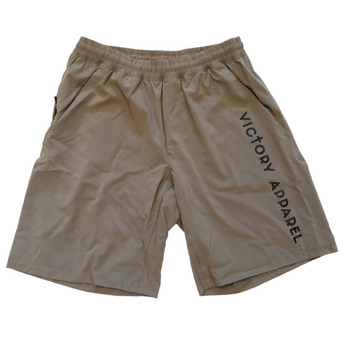 Men's Lightweight Training Shorts (Military Green) | Victory Apparel, Inc.