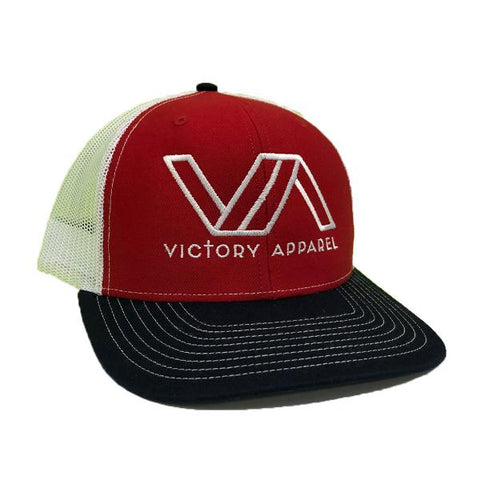 Victory Apparel Trucker Hat (Red/White/Navy) | Victory Apparel, Inc.