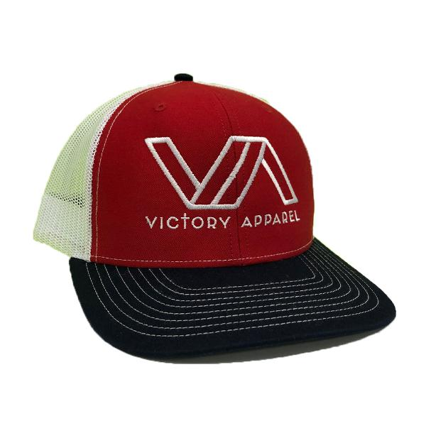 Victory Apparel Trucker Hat (Red/White/Navy)-Victory Apparel, Inc.