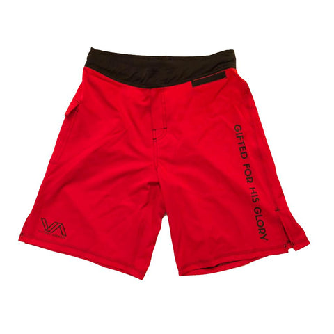 Victory Apparel Training Shorts (Red) | Victory Apparel, Inc.
