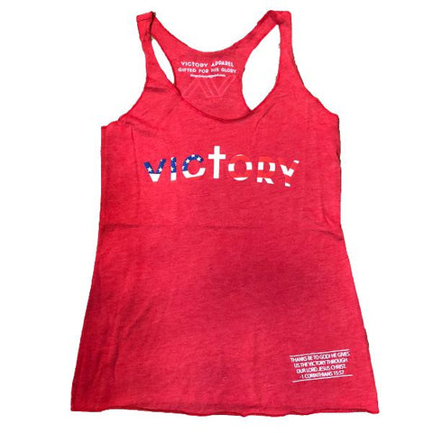 Victory Women's Tank (Vintage Red)-Victory Apparel, Inc.