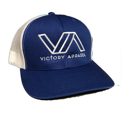 Victory Apparel Trucker Hat (Royal Blue/White) | Victory Apparel, Inc.