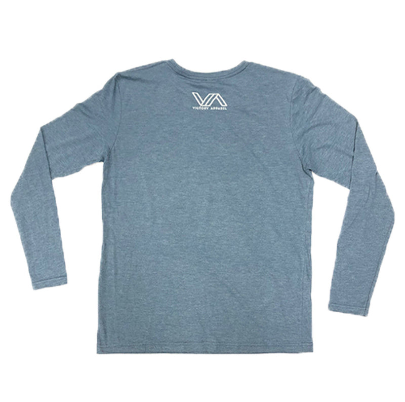 Run to the Roar Long Sleeve Tee (Indigo)-Victory Apparel, Inc.