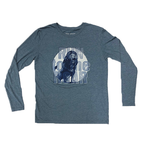 Run to the Roar Long Sleeve Tee (Indigo) | Victory Apparel, Inc.